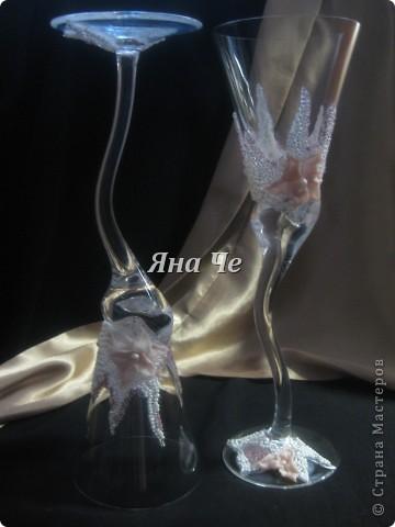 """Свадебные бокалы """"Лилит"""" фото 5"""