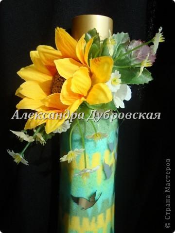 Вот такую бутылочку я сделала для своей мамочки на день рождения!!!! фото 3