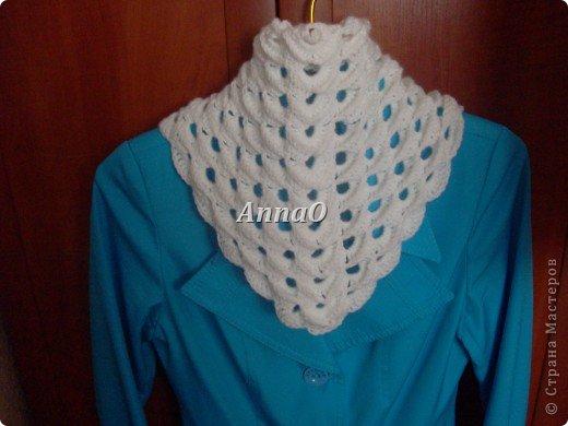 Наконец таки мой второй треугольный шарф... Такой воздушный и легкий!!!!!! фото 4
