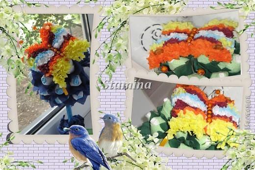 К красивым бумажным деревцам с цветочками..нужны красивые бабочки :)