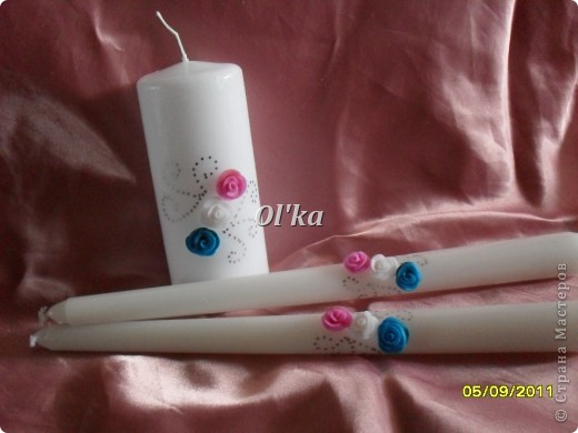 Свадебные свечи фото 4