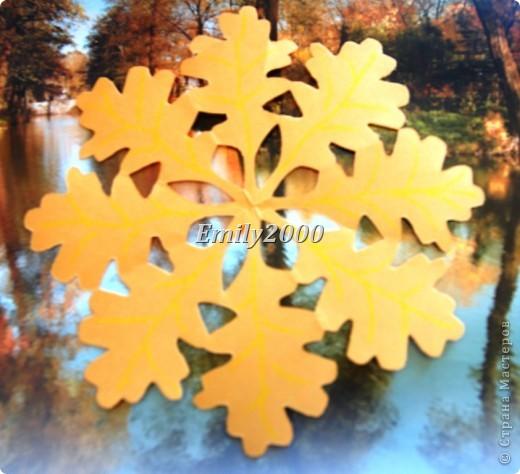 Осенняя снежинка - плоское киригами