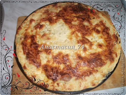 Запеканка из картофеля с луком и печенью