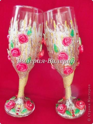 Свадебные бокалы-первые шаги))) фото 2