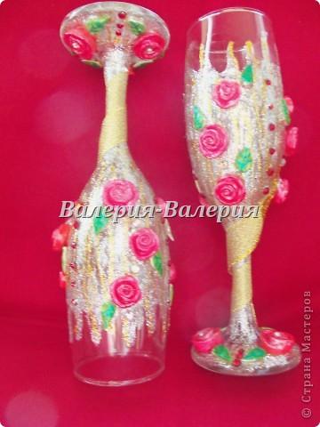 Свадебные бокалы-первые шаги))) фото 3