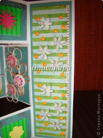 Очень нравится такая форма открытки...  Здесь можно посмотреть ,как это делается...   http://stranamasterov.ru/node/233169  , там ссылочки на МК ... А я решила, что больше делать такие не буду... Уже хочется чего-то новенького... фото 5