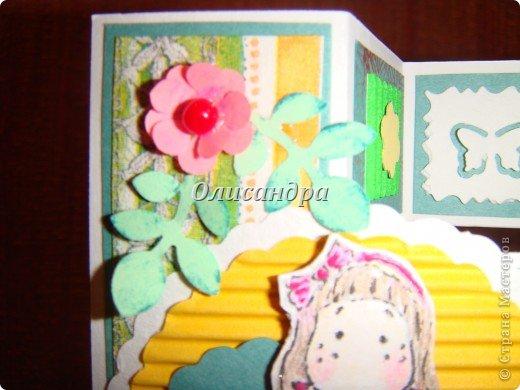 Очень нравится такая форма открытки...  Здесь можно посмотреть ,как это делается...   http://stranamasterov.ru/node/233169  , там ссылочки на МК ... А я решила, что больше делать такие не буду... Уже хочется чего-то новенького... фото 7
