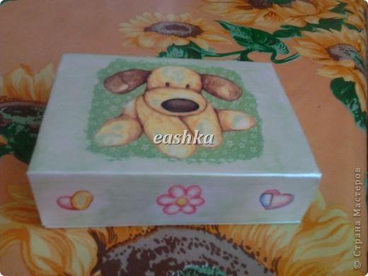 вот такая коробочка получилась для дочки))) фото 2