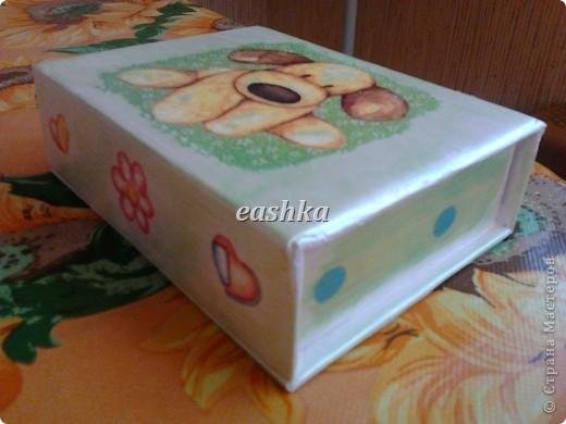 вот такая коробочка получилась для дочки))) фото 1