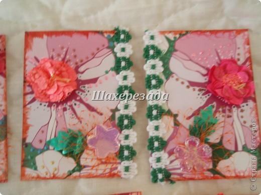 Купила ребенку альбом , а у него такая красивая обложка....  наделала цветов по МК  Татьяны Имполитовой (огромное спасибо) и родилось...... С удовольствием поменяюсь фото 3