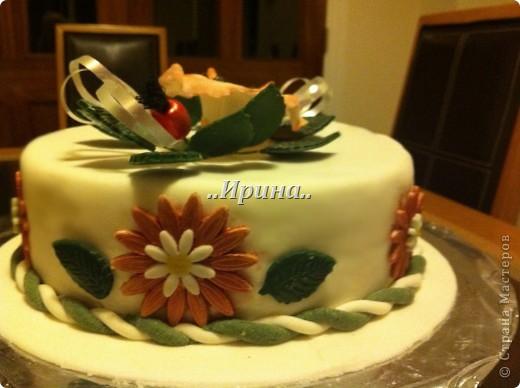 Торт с цветами из мастики фото 2