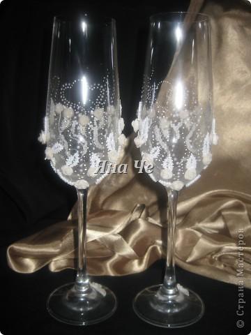 Мои очередные свадебные бокалы.  фото 2