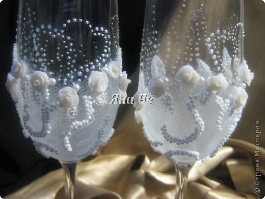 Мои очередные свадебные бокалы.  фото 3