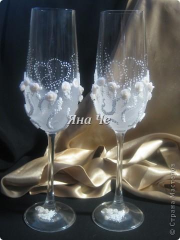 Мои очередные свадебные бокалы.  фото 1