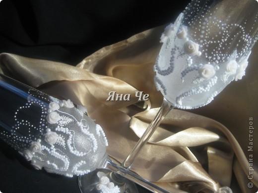 Мои очередные свадебные бокалы.  фото 4