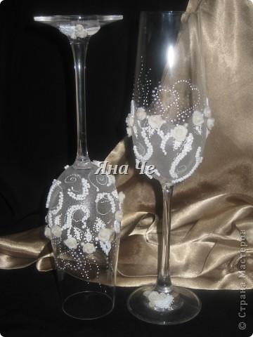 Мои очередные свадебные бокалы.  фото 5