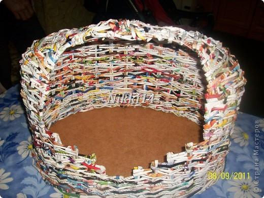 """Это мои первые работы в технике """"плетение"""". Вот такой домик сделала для своей кошки. фото 3"""