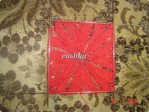 Моя первая салфетка спицами из центра Вязала из ириса - ушло меньше 10 грамм, спицы 1.5.. фото 5