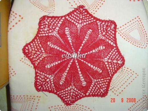 Моя первая салфетка спицами из центра Вязала из ириса - ушло меньше 10 грамм, спицы 1.5.. фото 6