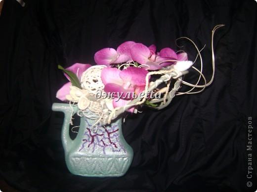 ещё одна композиция с орхидеями