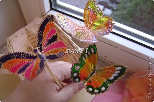 Вот занялась я сидючи дома уже всем что приглянется.А бабочки давно у меня в голове сидели,сделать их,вот вчера то и сотворила!!! фото 3