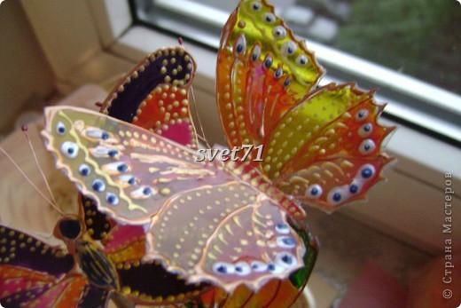 Вот занялась я сидючи дома уже всем что приглянется.А бабочки давно у меня в голове сидели,сделать их,вот вчера то и сотворила!!! фото 4