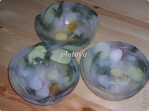Ледяные тарелки для окрошки фото 2