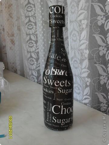 Бутылочка для Сестренки. Выбор салфетки принадлежит Сестре. фото 1