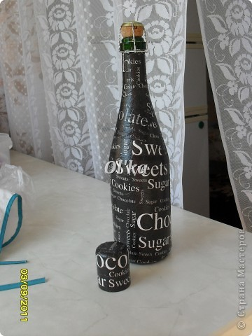 Бутылочка для Сестренки. Выбор салфетки принадлежит Сестре. фото 2