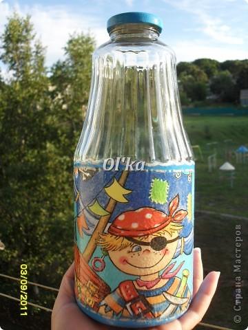 Бутылочка для Сестренки. Выбор салфетки принадлежит Сестре. фото 3