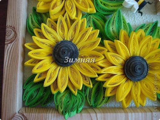"""Добрый день всем жителям СМ.У каждой мастерицы в коллекции есть свои подсолнушки,вот и я сделала себе эти жизнерадостные цветочки. Тем более погода нас еще балует,а так хочется чтобы эти """"солнышки """"согревали и в холодное время. фото 3"""