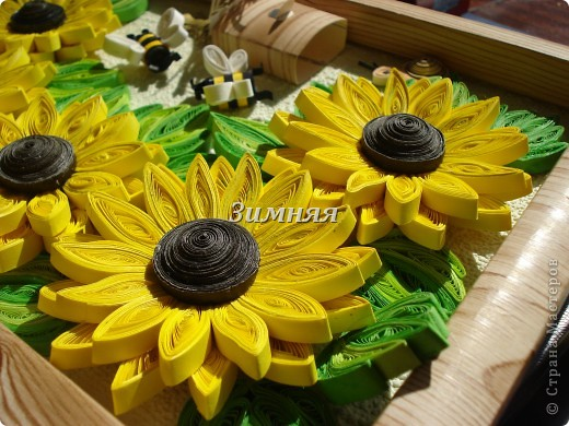 """Добрый день всем жителям СМ.У каждой мастерицы в коллекции есть свои подсолнушки,вот и я сделала себе эти жизнерадостные цветочки. Тем более погода нас еще балует,а так хочется чтобы эти """"солнышки """"согревали и в холодное время. фото 6"""