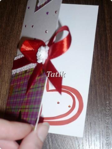 Открытка сделана по просьбе и будет подарена (надеюсь:)) в ней есть маленький сюрприз=) фото 2