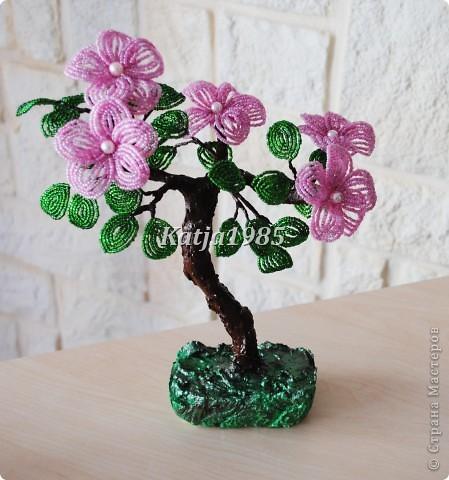 Деревце( Розовые цветочки)