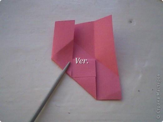 Доброго времени суток,жители Страны Мастеров!Я новичок в технике Оригами.И МК по Оригами делаю впервые.Так что прошу не судить строго,и если что то не понятно,спрашивайте!Я хочу показать вам и рассказать как делаются такие розочки.В чём их секрет?Сейчас узнаете! фото 17