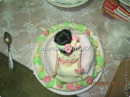 Доча увидела в стране мастеров тортики куклы и попросила на день рождение себе . Что не сделаешь для ребенка. Вот мы с бабушкой и сделали ей подарок! фото 3