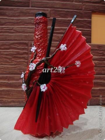 """бутылка """"Цветущая сакура"""" фото 2"""
