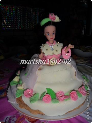 Доча увидела в стране мастеров тортики куклы и попросила на день рождение себе . Что не сделаешь для ребенка. Вот мы с бабушкой и сделали ей подарок! фото 1