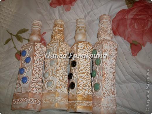 Решилась показать Вам, дорогие мастерицы, и свое бутылочное творчество. фото 3
