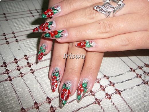 художественная роспись на ногтях фото 1