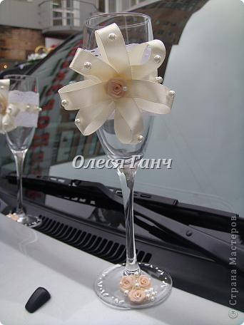 Свадебный набор: бутылки, свечи, бокалы фото 4