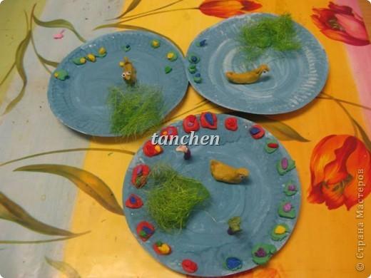 листья в луже, работы детей 6-7 лет фото 2