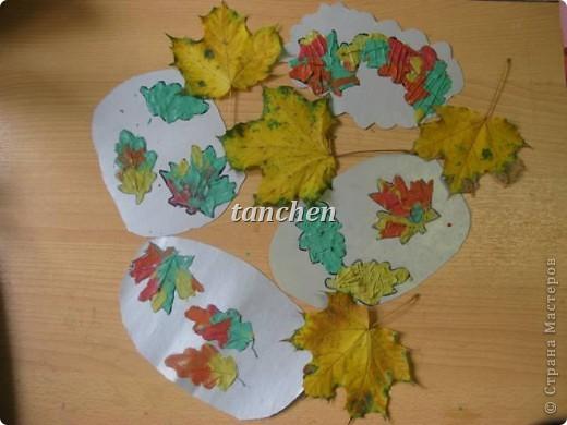 листья в луже, работы детей 6-7 лет фото 1