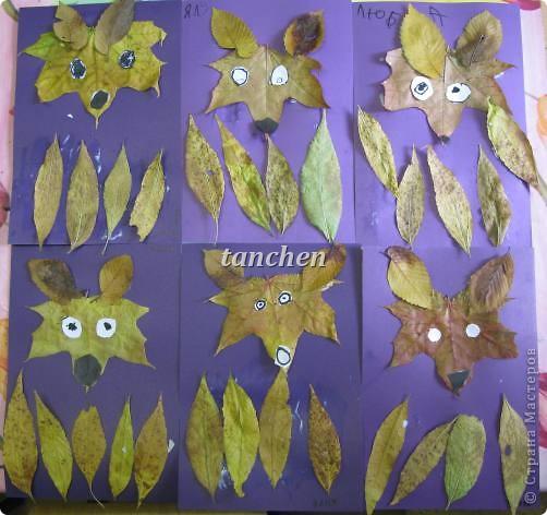 осенние деревья,выполненные на бархатной бумаге детьми  4-5 лет фото 2