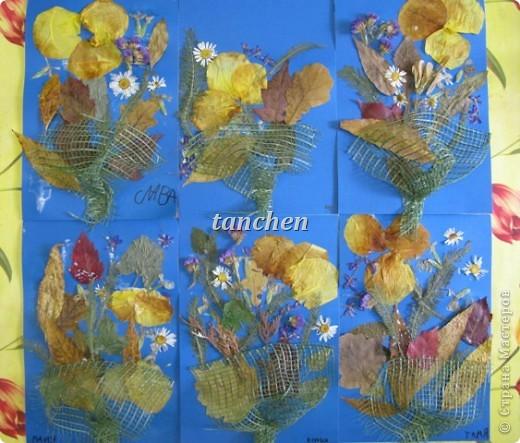 осенние деревья,выполненные на бархатной бумаге детьми  4-5 лет фото 4