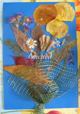 осенние деревья,выполненные на бархатной бумаге детьми  4-5 лет фото 5