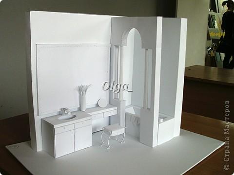 Ванная комната из бумаги. Курсовая работа)