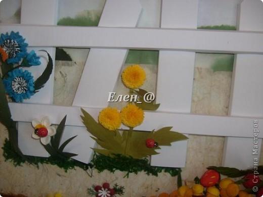 """Идею """"честно """"стянула"""" у Софьи Баланюк, в хабаровском центре. Только тележка у нее была с ромашками, ну а мне же в столовую нужно- значит будет с ягодами. Размер- 70х50см (ага, гигантизмом нисколечко не страдаю :)) ) фото 4"""