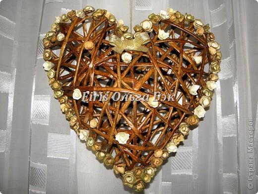 Это мой усовершенствованный  и уже немного систематизированный вариант плетенного сердца. фото 17