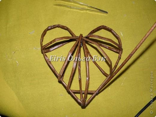 Это мой усовершенствованный  и уже немного систематизированный вариант плетенного сердца. фото 10